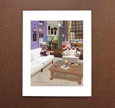 Monica's Apartment Living Room Friends por BeautifulPeaceShop