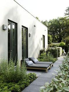Modern side garden / Jardín lateral contemporáneo