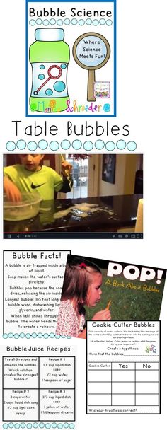 Bubbles are a great way to have fun with science! Make your own bubble juice and experiment with table bubbles. Perfect for at home or in the classroom!