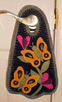 BUTTERFLIES Penny Rug Door Hanger