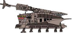 Self Propelled Heavy-Turbolaser Walker