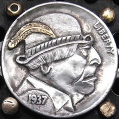 by Larry Foster Hobo Nickel, Coin Art, Larry, The Fosters, Buffalo, Coins, Profile, User Profile, Rooms