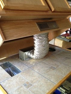 Heat Register Under Cabinet Toe Kick Ducting Kit | eBay