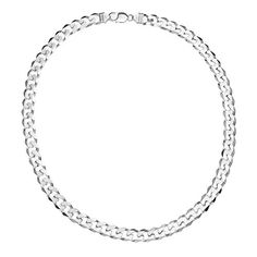 Ornami Sterling Silver Curb Chain Necklace 56cm Length  Price Β£599
