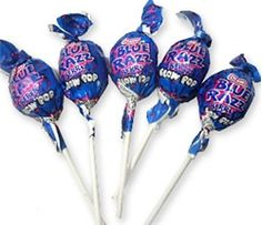 Blue Raspberry Blowpops - I remember one Picture Day in middle school when it seems everybody in my class had a Blue Razz Blow Pop right picture-taking time. Needless to say: we had some upset parents.