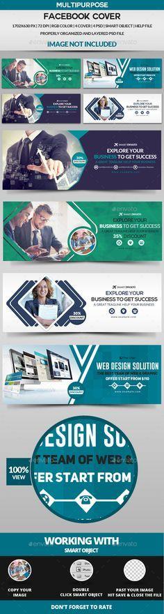 Facebook Cover - 4 Design Templates PSD. Download here: http://graphicriver.net/item/facebook-cover-4-design-/16870277?ref=ksioks