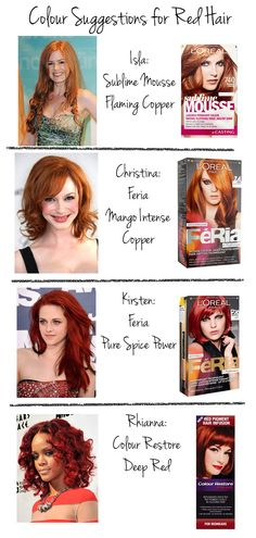 I love every shade of red ❤ my hair is definitely a Titan ginger ...