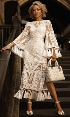 Hollywood Legend White Sheer Mesh Sequin Lace Long Bell Sleeve Round N –  Indie XO Beautiful b5cd8e72992
