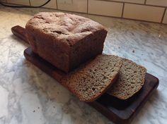 Gluten free teff bread just out of the read machine.