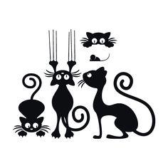 Vinilos Decorativos Gatos