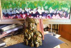 """Albero fiorito """"pitto-scultura cm.70x30 anno 1988"""""""