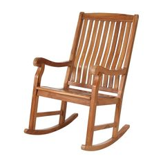 Have to have it. All Things Cedar Teak Rocking Chair - $519.99 @hayneedle.com