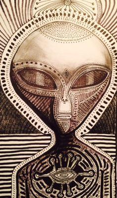 Zeta Gray alien by Luther Birdmaker