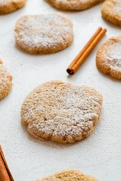 Cinnamon Sugar Cookies Recipe — Cinnamon Sugar Cookies – You'll fall in love with these easy, tender cookies bursting with cinnamon sugar. These cinnamon sugar cookies make for the perfect Fall (or anytime! Delicious Cookie Recipes, Best Cookie Recipes, Baking Recipes, Snack Recipes, Dessert Recipes, Desserts, Fall Recipes, Keto Recipes, Snacks