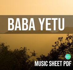 Music Sheets For All: Baba Yetu SATB Music Sheet PDF file Music Sheets, Sheet Music, Pdf, Chart Songs