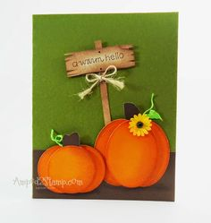 Pumpkin patch by Deb Davis www.amped2stamp.com a muse studio cards