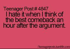HATE THIS!     #teenagerposts #comebacks #happensallthetime