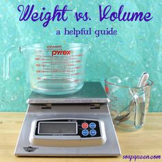 A Guide to Weight vs. Volume  and How it Applies to Soapmaking
