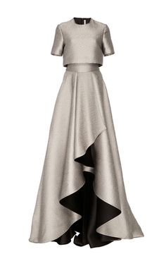 Short Sleeve Double Face Gown by JASON WU for Preorder on Moda Operandi