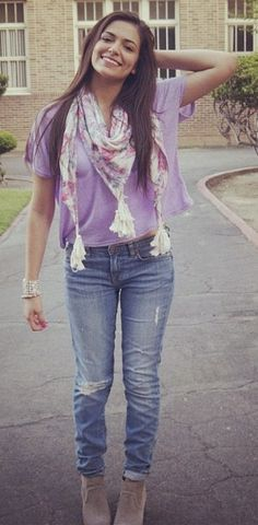 Bethany Mota... such a cute outfit! perf for fall!!