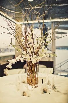 Paint some Branches Gold IDEAS PLEASE -Centerpieces - Branches and flowers  and candles hang/table : wedding