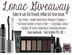 Private Affair Eye Makeup Set from Lorac Giveaway