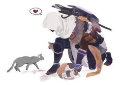 Ubi…Did you mean to make these cats so cute? Bayek & kitties. Assassin's Creed Origins.