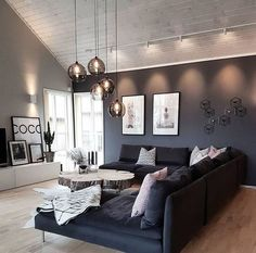45 amazing gorgeous living room color schemes to make your room cozy 36 - Home Design Ideas Home Living Room, Interior Design Living Room, Living Room Designs, Living Room Decor, Living Spaces, Bedroom Decor, Small Living, Interior Modern, Modern Living
