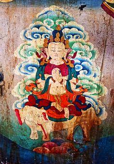 Buddhist art on Tibetan chest