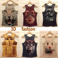 [AMY]2013 New style  Free shipping men t shirt  mens o-neck Fashion vest  3d cotton t shirt ,3D printed t-shirts for man 17model $8.99