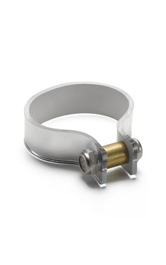 mmmmm Cooee Large Nut Cuff in Mirror Silver