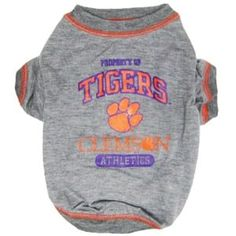 Shop where every purchase helps shelter pets! Clemson Tigers Dog Tee Shirt - from $16.95