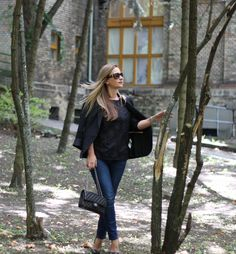 #style #street #style #fashion #outfit #fall #look #denim #jeans #blazer #heels