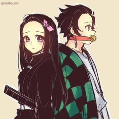 kimetsu no yaiba [comics] - [nezuko & tanjirou] - Wattpad Otaku Anime, Anime Boys, Manga Anime, Anime Art, Slayer Meme, Japon Illustration, Demon Hunter, Another Anime, Dragon Slayer