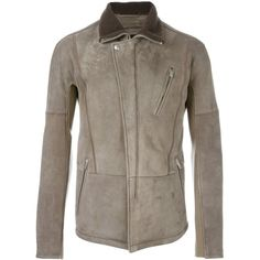 Alexander McQueen cutaway collar jacket ($5,085) ❤ liked on Polyvore featuring men's fashion, men's clothing, men's outerwear, men's jackets, grey and mens grey jacket