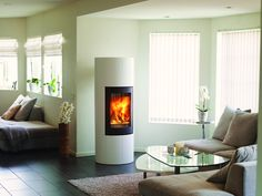 Ronda 160 - Peis fra Nordpeis Ronda med mulighet for varmelagring Wood Fireplace, Fireplaces, Wood Burning, Stove, Colorado, Home Appliances, Contemporary, Living Room, Home Decor