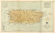 Poster, Many Sizes Available; Map Of Island Of Puerto Rico 1898 - Informationen zu Poster, Many Sizes Available; Map Of Island Of Puerto Rico 1898 Pin Sie können me - Puerto Rico Map, Puerto Rico History, New Territories, Old Maps, Puerto Ricans, Craft Supplies, How To Find Out, Vintage World Maps, Tourism