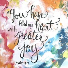 """Inspirational Abstract Scripture Art """"Greater Joy"""" by BethanyJoyArt Scripture - Ps 4"""