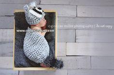 Renny Raccoon- Cuddle Cape Set - Newborn Photography Prop