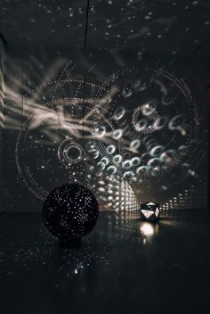 Otto Piene light art installation reminds me of starry night skies