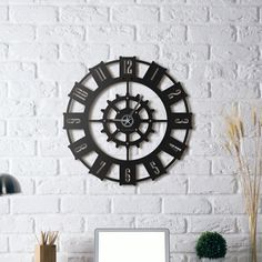 Unique Wall Clock design by HOAGARD. 50 x 50 cm Matte black textured paint Hour hand : Silver Minute hand : Silver Second hand : Silver Quartz mechanism You can hang it with one nail from hidden hanger. Metal Clock, Metal Wall Art, Magenta, Wall Clock Design, Unique Wall Clocks, Texture Painting, Wall Signs, Home Accessories, Wall Decor