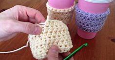 Tutorial: How To Crochet Your Own Coffee Cozy