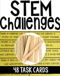 STEM Challenges {Popsicle Sticks} encourages critical thinking, engineering skills,cooperation, and Stem Challenges, Engineering Challenges, Stem Science, Science Books, Life Science, Computer Science, Pop Sicle, Stem Classes, School