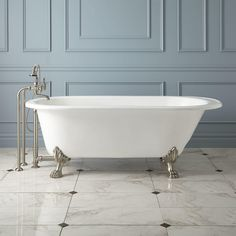 """68"""" Hofburg Cast Iron Clawfoot Tub - Clawfoot Tubs - Bathtubs - Bathroom"""