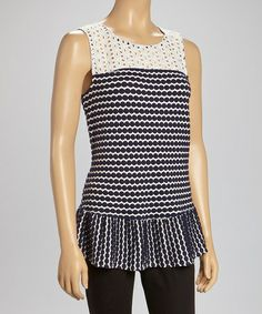 Look what I found on #zulily! Evening Sky Sleeveless Peplum Top by Skye's the limit #zulilyfinds