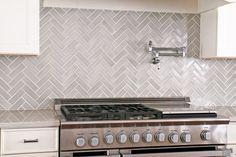 Herringbone Kitchen in Foggy Morning | Installation Gallery | Fireclay Tile