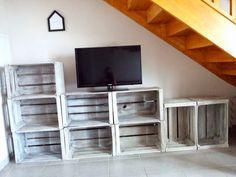 Meubles de caisse en bois sur pinterest cageots caisses - Caisse en bois leroy merlin ...