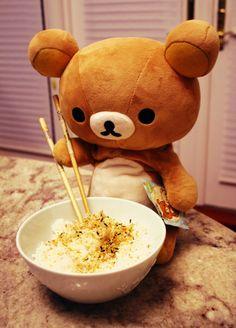 Rilakkuma and Rikakkuma furakake rice