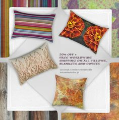 20% OFF + FREE WORLDWIDE SHIPPING ON ALL PILLOWS, BLANKETS AND DUVETS