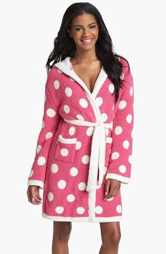 a7df04e600 Barefoot Dreams® Polka Dot Short Hooded Robe available at  Nordstrom  nsale  Polka Dot